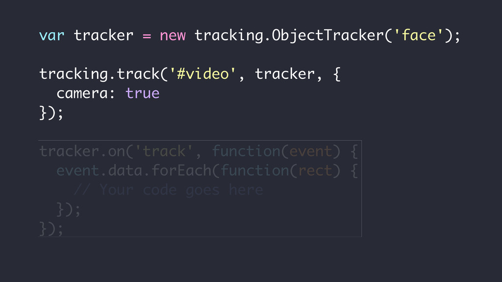 var tracker = new tracking.ObjectTracker('face'...