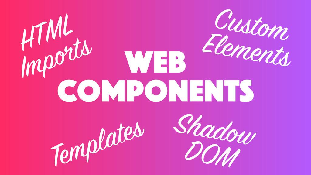 web components HTML Imports Templates Custom El...