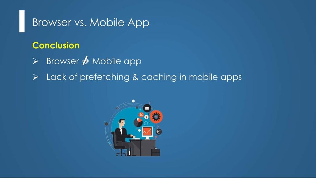 Conclusion Ø Browser à Mobile app Ø Lack of pre...