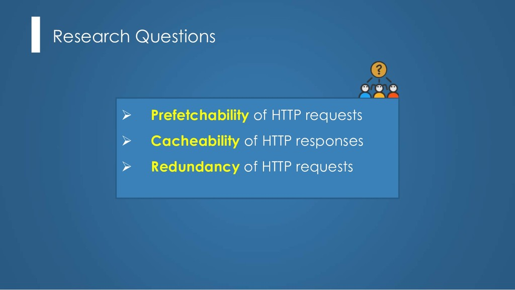 Research Questions Ø Prefetchability of HTTP re...