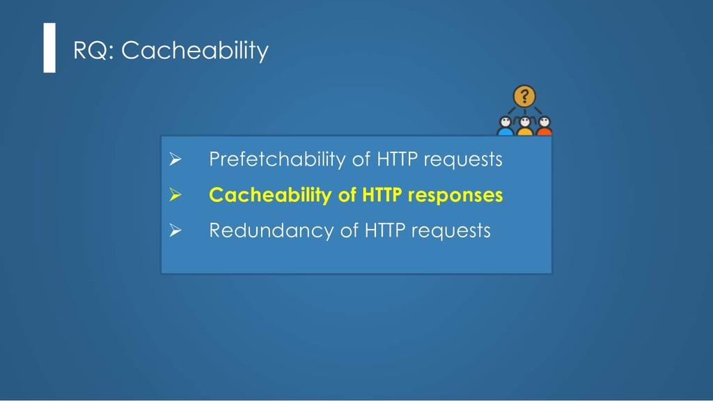 RQ: Cacheability Ø Prefetchability of HTTP requ...