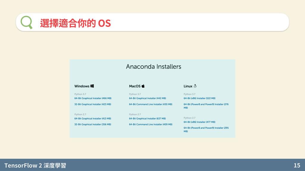 TensorFlow 2 度學習 15 選擇適合你的 OS