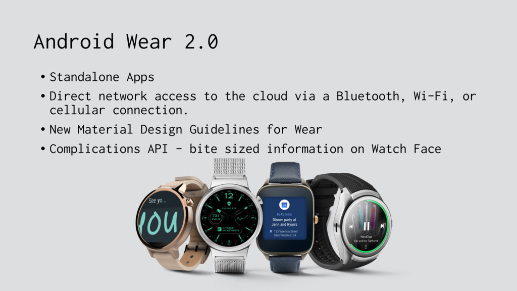 Android Wear 2.0 • Standalone Apps • Direct net...