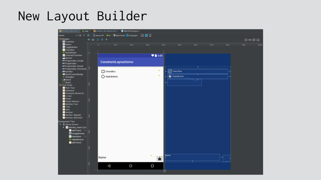 New Layout Builder