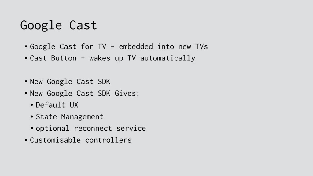 Google Cast • Google Cast for TV - embedded int...