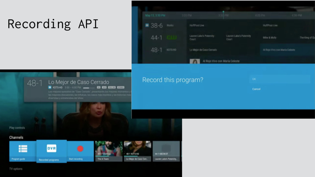 Recording API