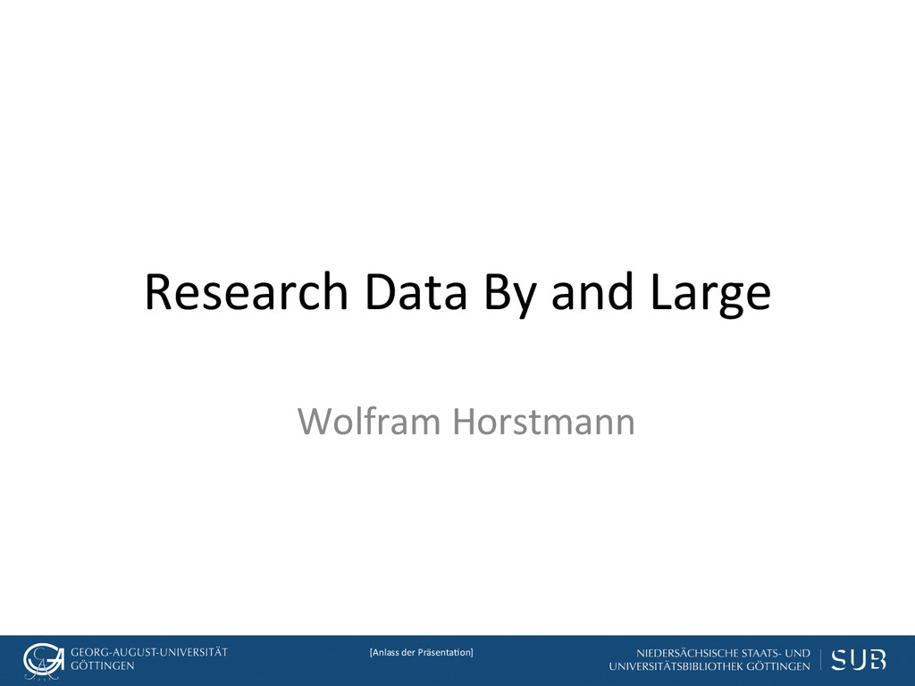 [Anlass der Präsenta.on]  Research ...