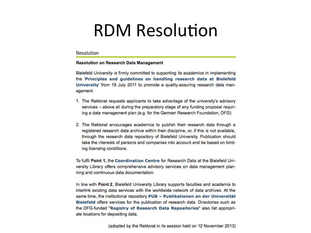 [Anlass der Präsenta.on]  RDM Resol...