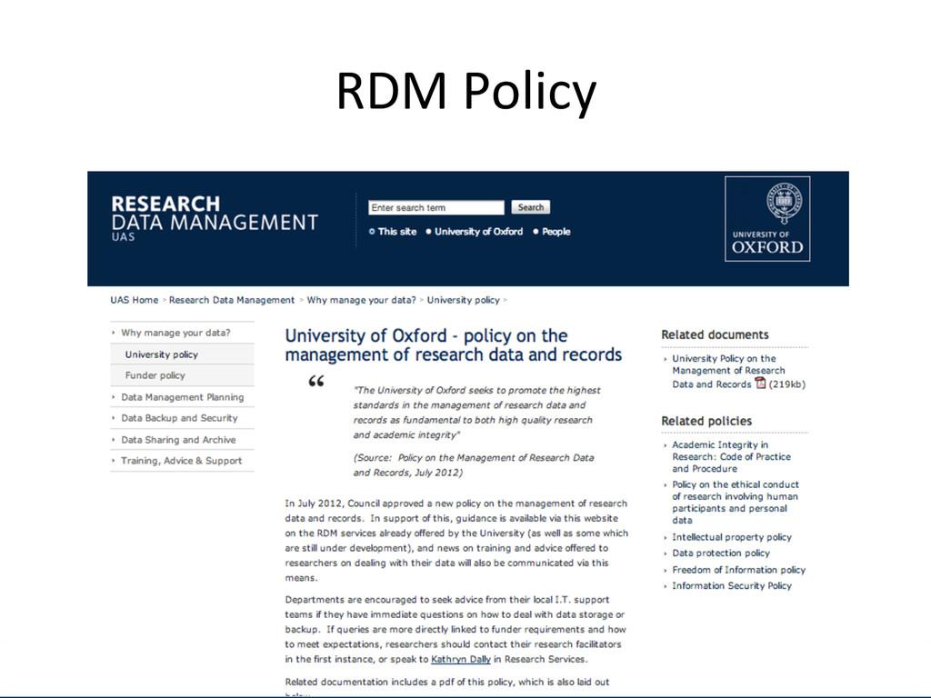 [Anlass der Präsenta.on]  RDM Polic...