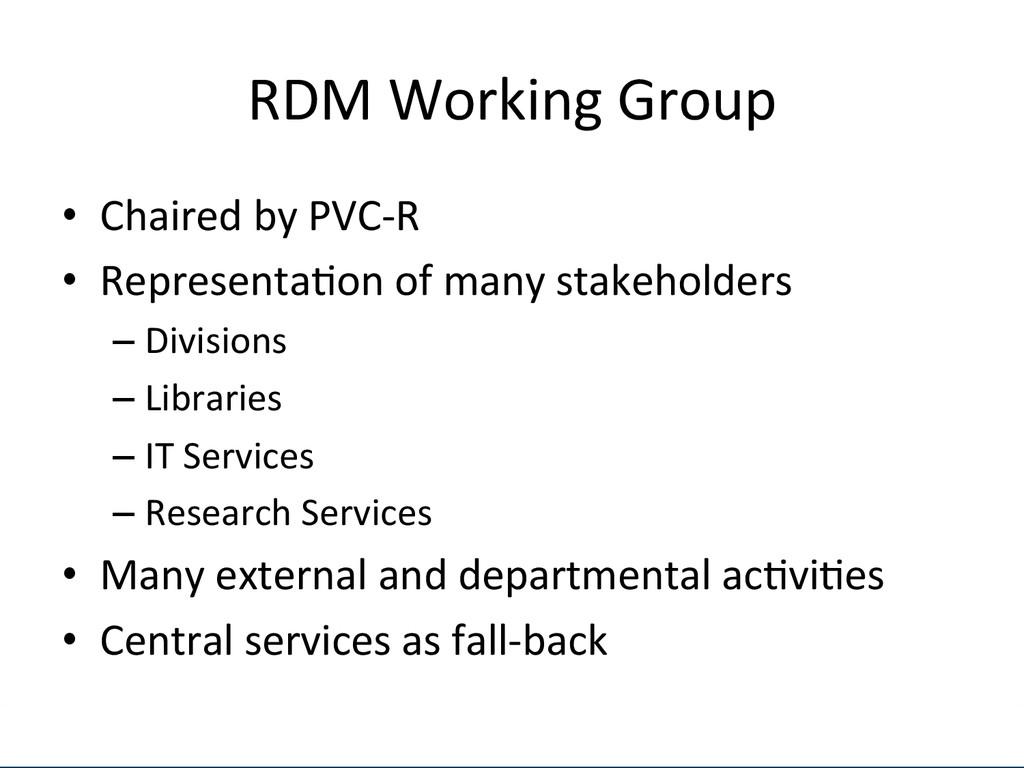 [Anlass der Präsenta.on]  RDM Worki...