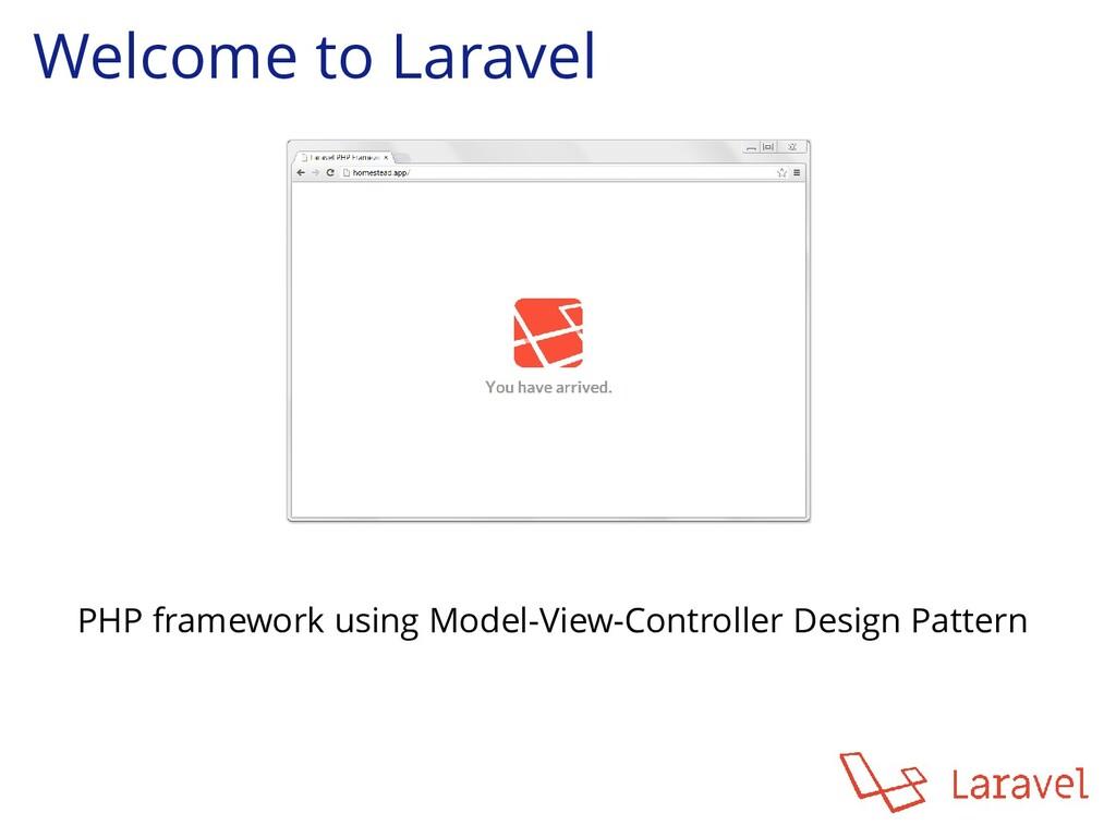 Welcome to Laravel PHP framework using Model-Vi...