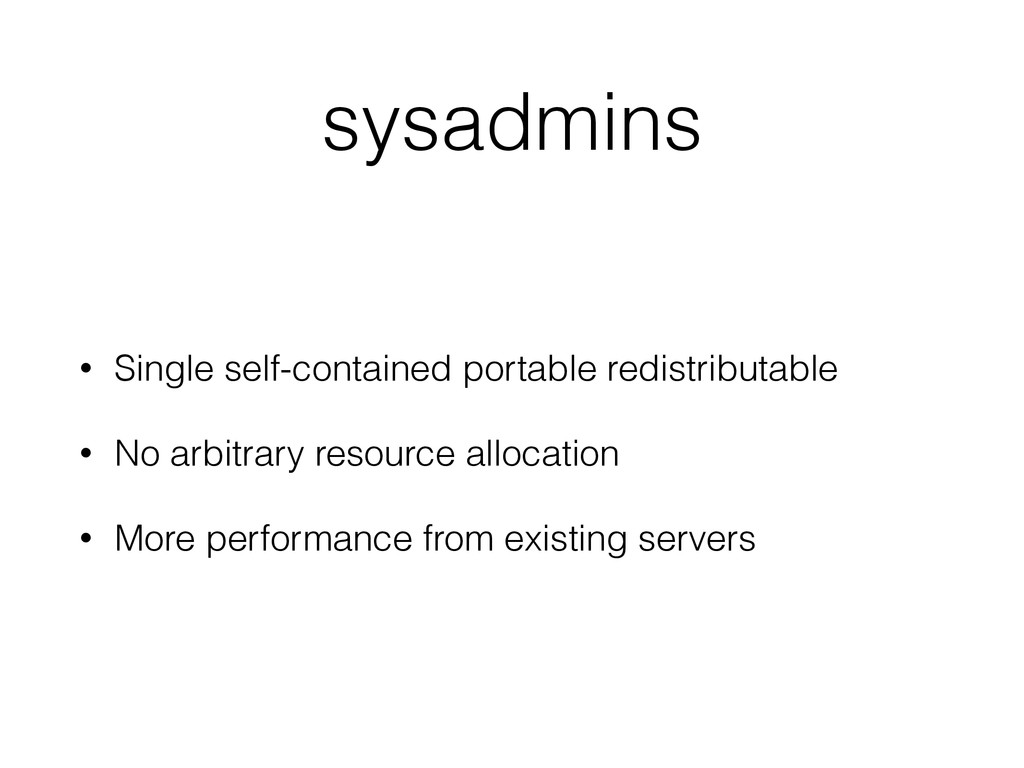 sysadmins • Single self-contained portable redi...