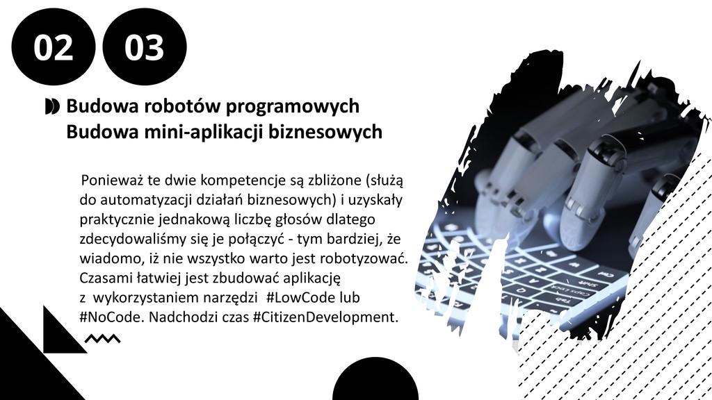Budowa robotów programowych Budowa mini-aplikac...