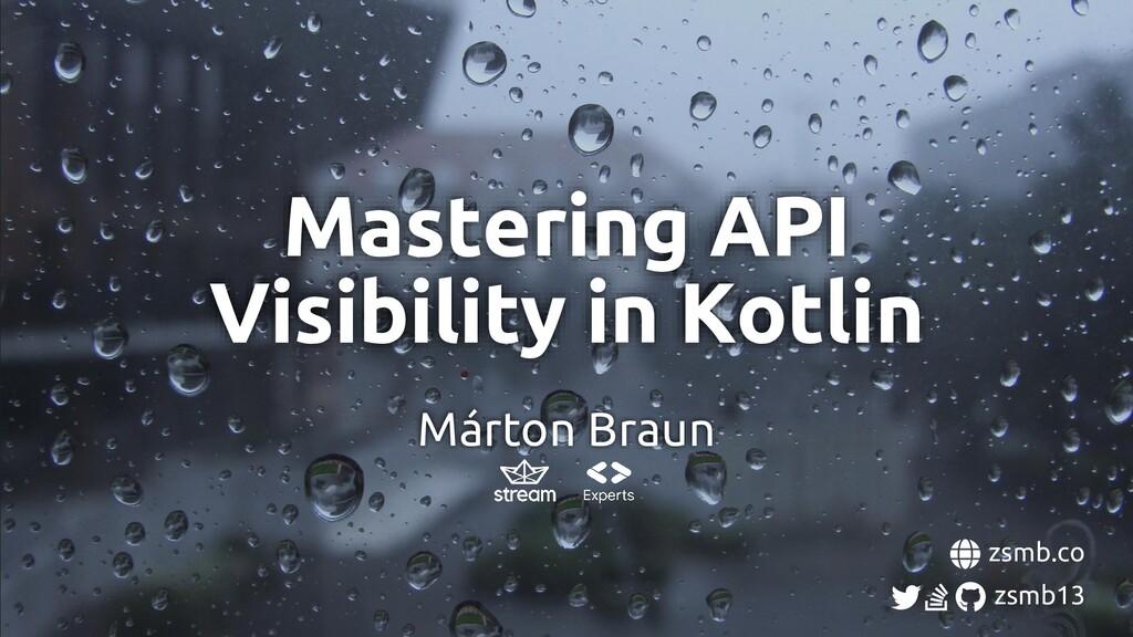 Márton Braun zsmb.co zsmb13 Mastering API Visib...