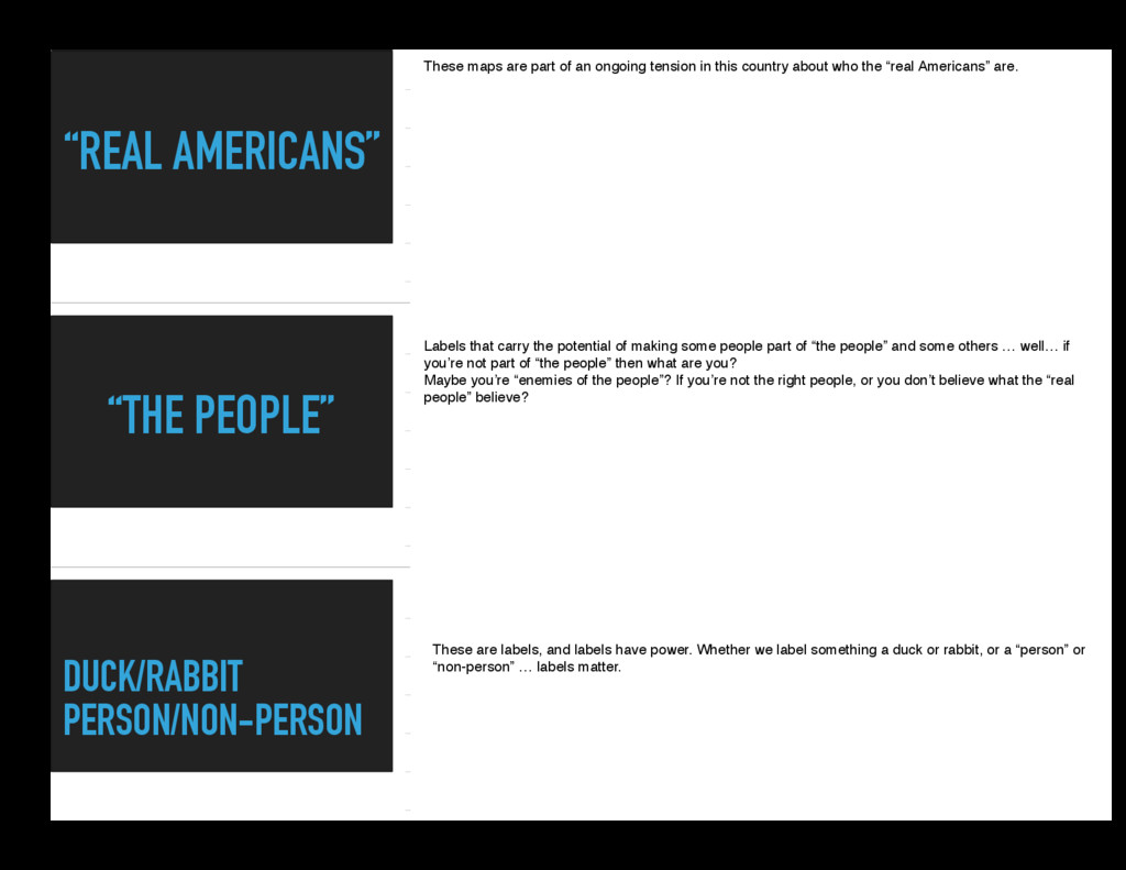 """""""REAL AMERICANS"""" """"THE PEOPLE"""" DUCK/RABBIT PERSO..."""