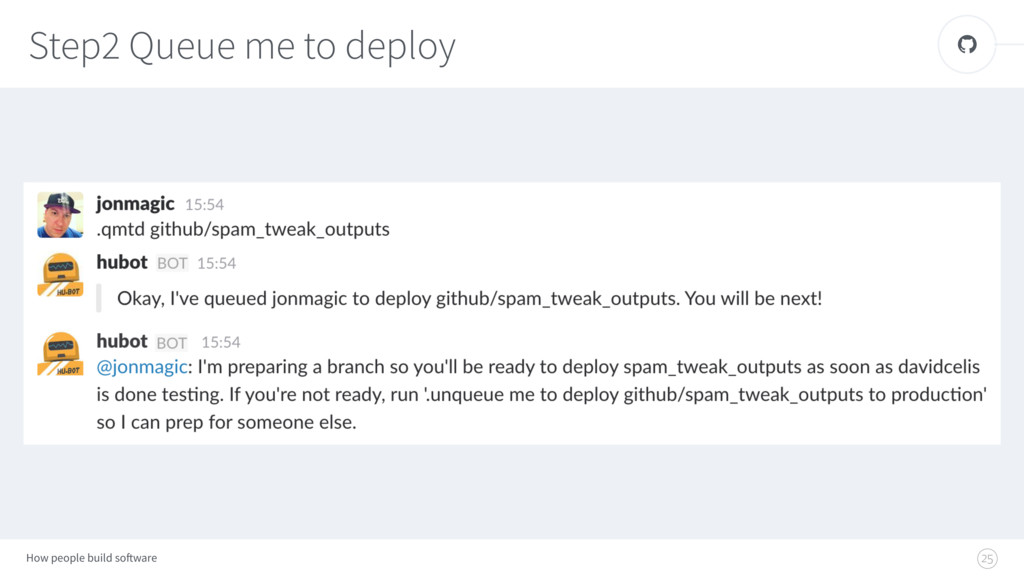 How people build software ! Step2 Queue me to d...