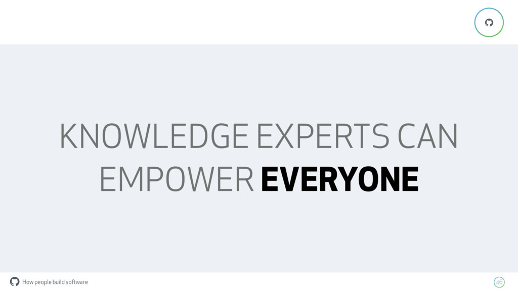 How people build software ! 46 ! KNOWLEDGE EXPE...