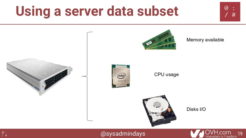 @sysadmindays @ : / # Using a server data subse...