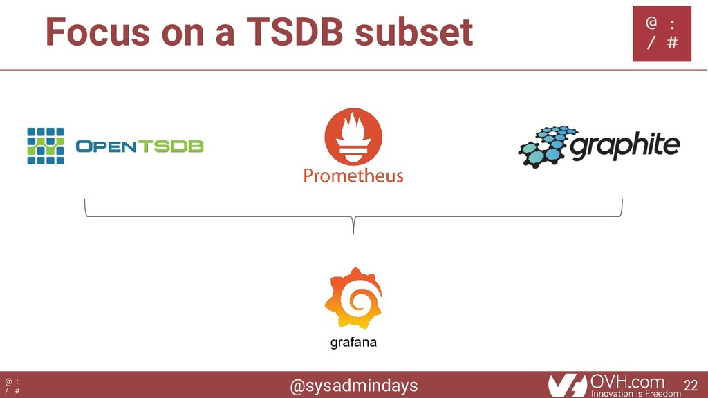 @sysadmindays @ : / # Focus on a TSDB subset gr...