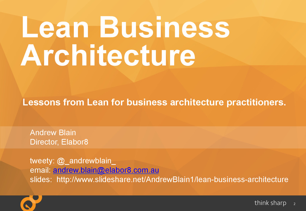 2 Lean Business Architecture Lessons from Lean ...