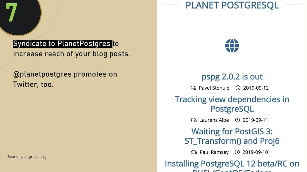 @clairegiordan o 7 Source: postgresql.org Syndi...