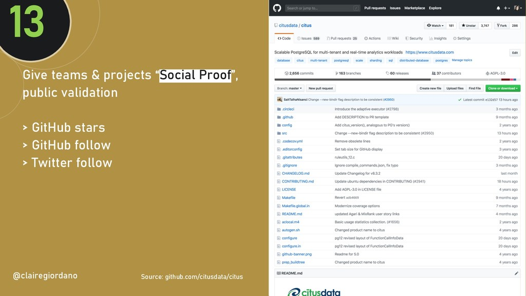 """@clairegiordan o Give teams & projects """"Social ..."""