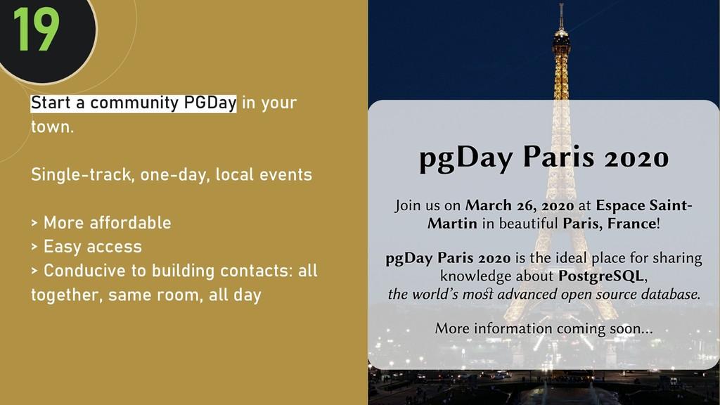 @clairegiordan o Start a community PGDay in you...