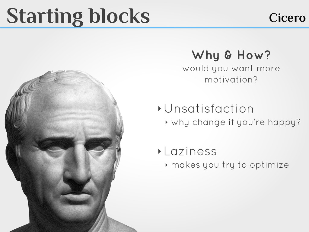 Starting blocks Cicero Why & How? would you wan...