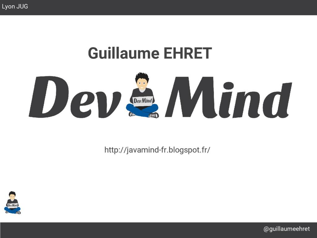 @guillaumeehret Lyon JUG Guillaume EHRET http:/...