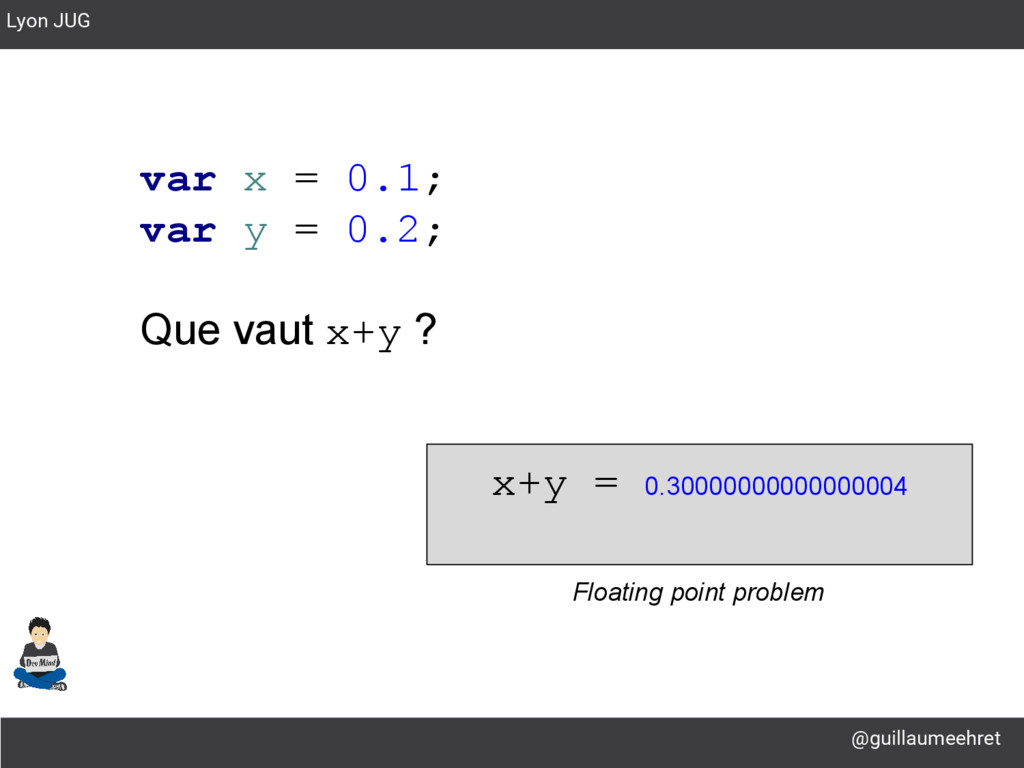 @guillaumeehret Lyon JUG var x = 0.1; var y = 0...