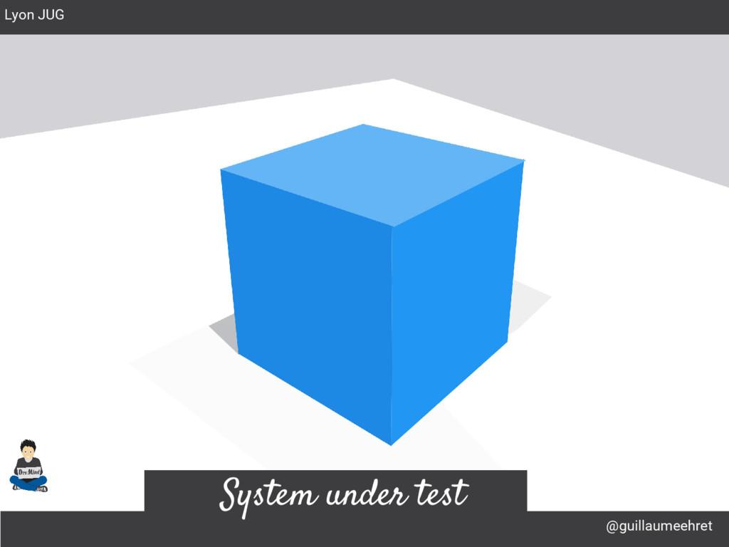 @guillaumeehret Lyon JUG System under test