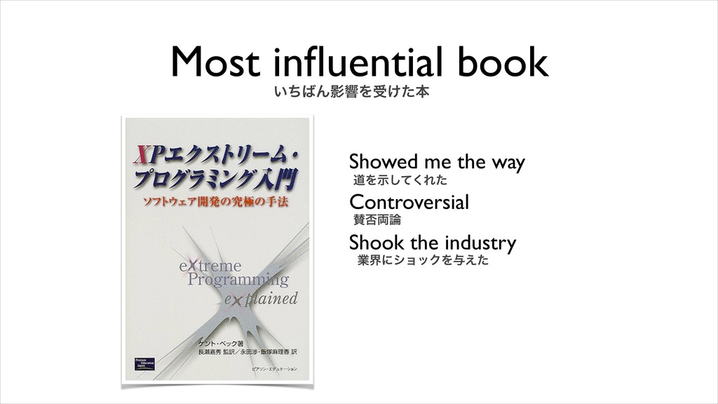 Most influential book Showed me the way Controve...