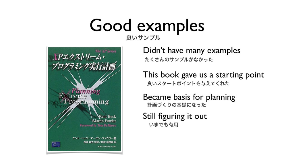 Good examples Didn't have many examples This bo...