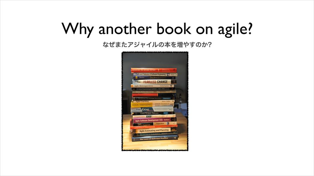 Why another book on agile? ͳͥ·ͨΞδϟΠϧͷຊΛ૿͢ͷ͔