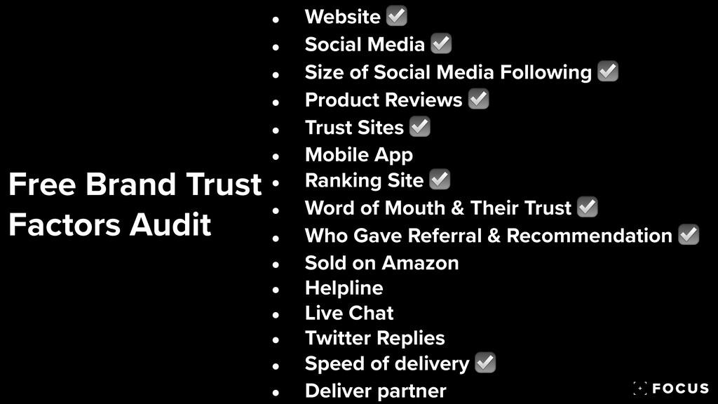 Free Brand Trust  Factors Audit • Website ☑   ...
