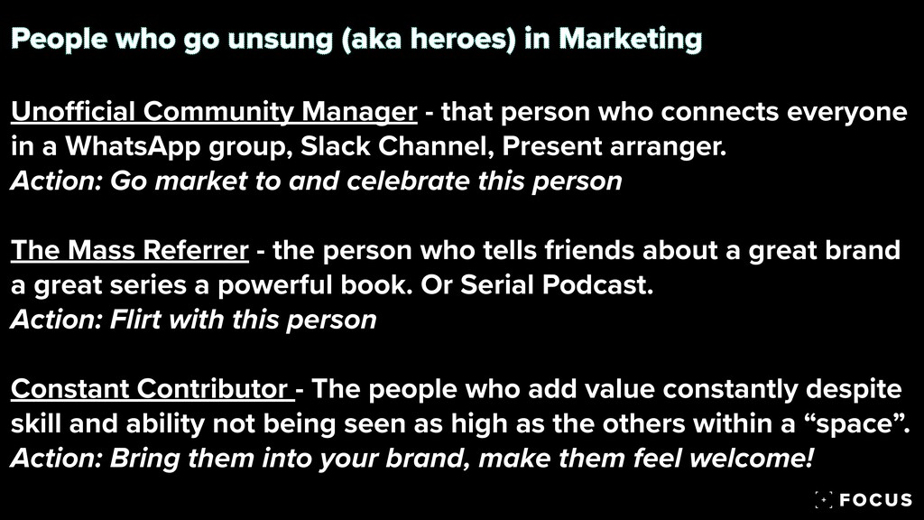 People who go unsung (aka heroes) in Marketing ...