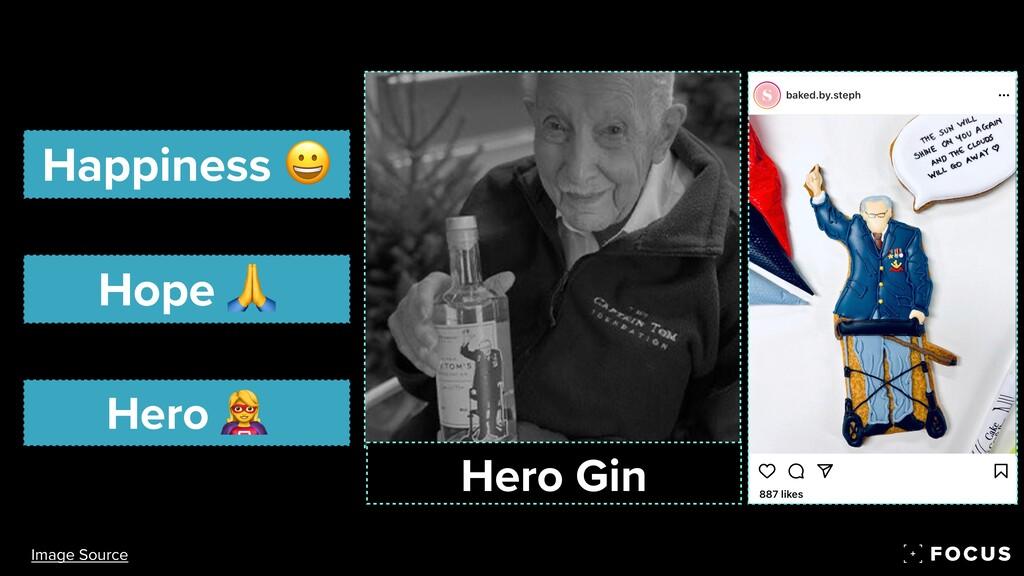 Happiness 😀 Hope 🙏 Hero 🦸 Hero Gin Image Source