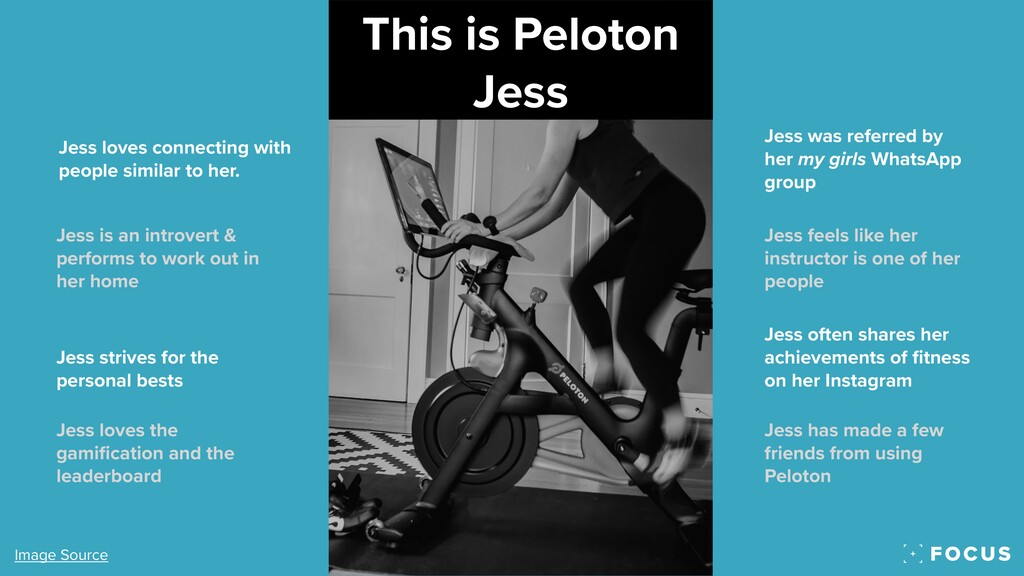 This is Peloton Jess Jess loves connecting with...