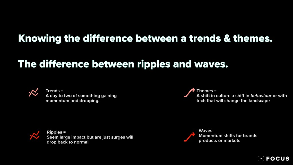 Knowing the di ff erence between a trends & the...