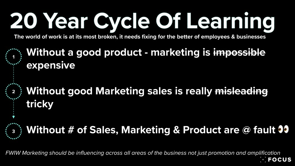 Without a good product - marketing is impossibl...