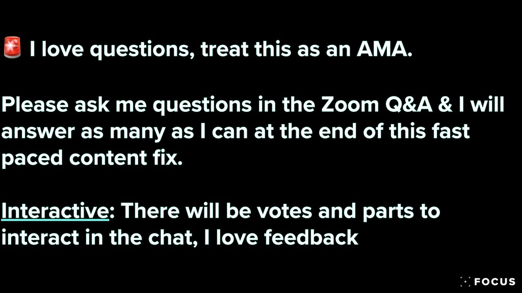 🚨 I love questions, treat this as an AMA.   Ple...