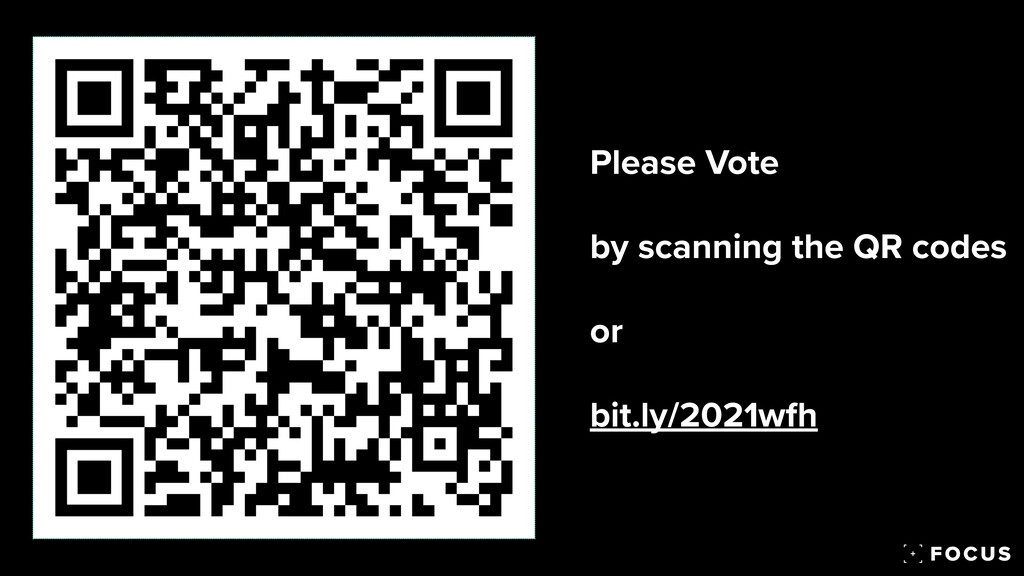 Please Vote   by scanning the QR codes   or  ...