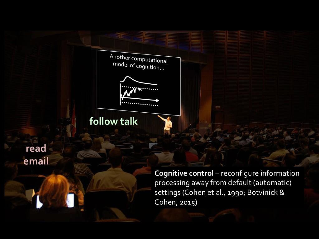 Cognitive control – reconfigure information pro...