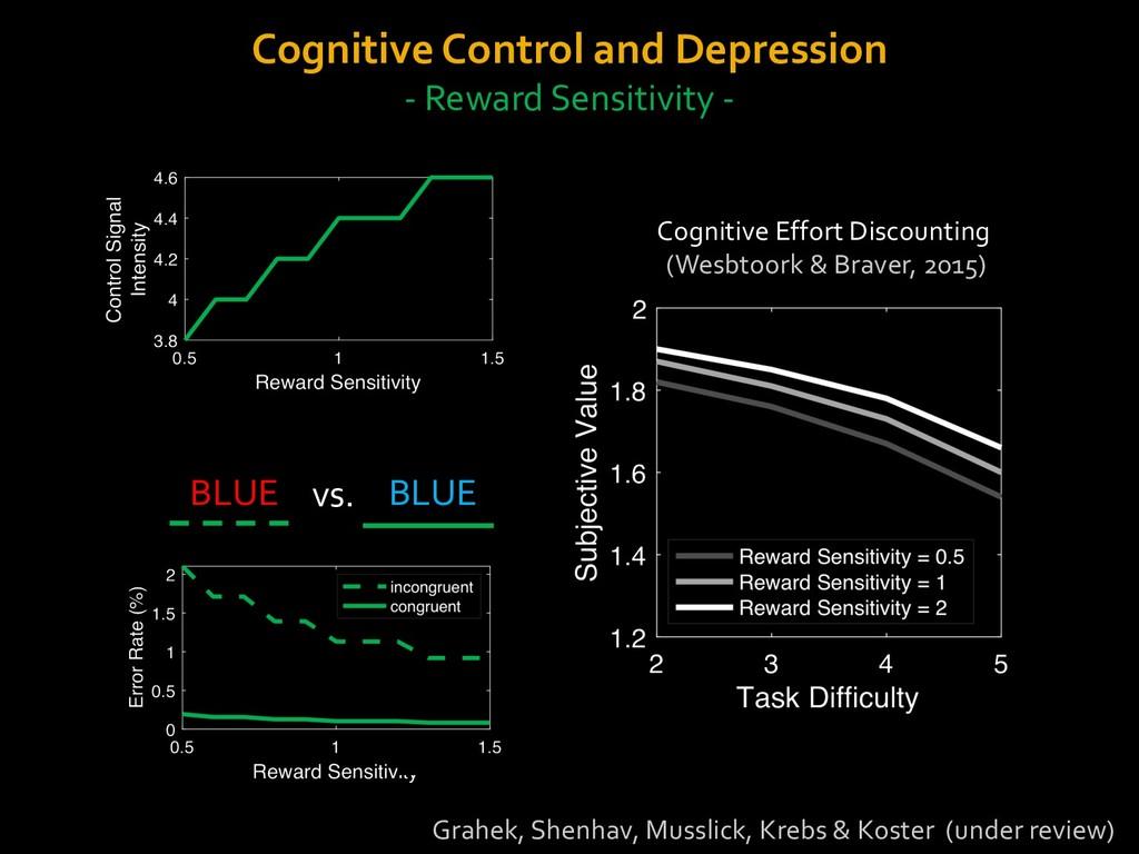 Cognitive Control and Depression - Reward Sensi...