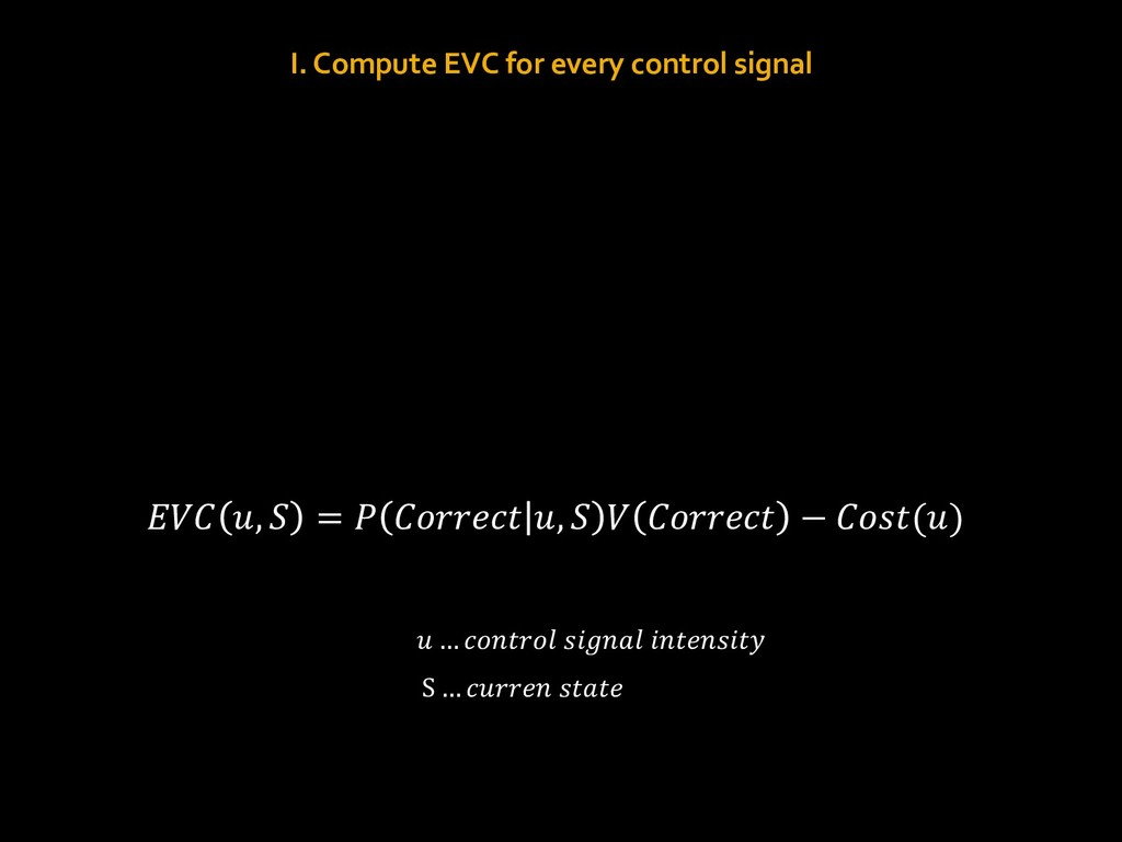 """I. Compute EVC for every control signal !""""# $, ..."""
