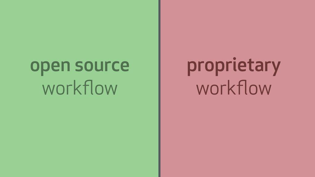 open source workflow proprietary workflow