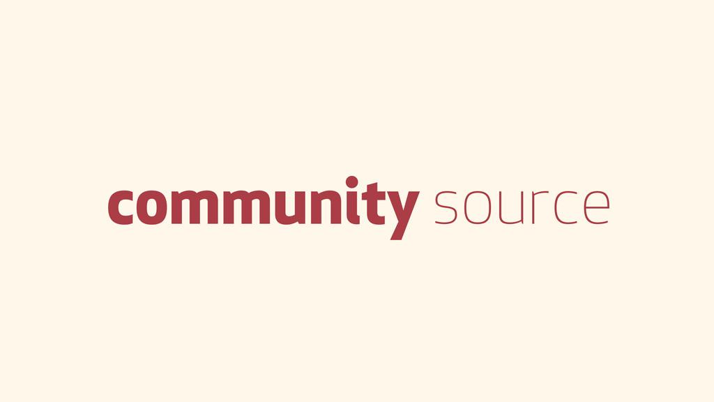 community source