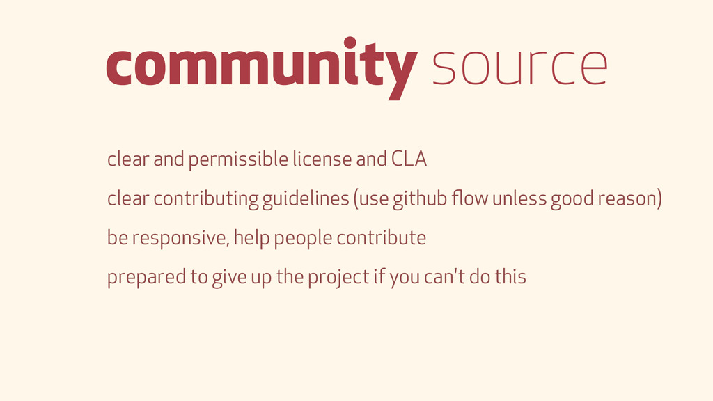 community source clear and permissible license ...