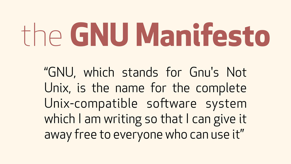 """GNU, which stands for Gnu's Not Unix, is the n..."