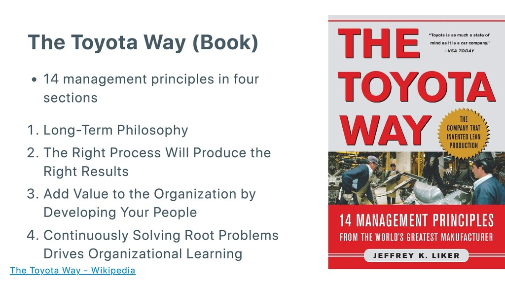 The Toyota Way (Book) 14 management principles ...